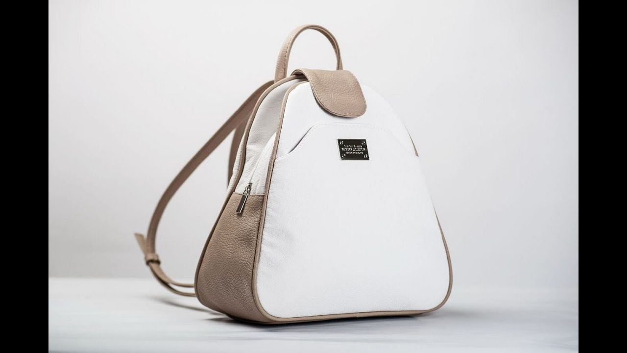 Кожаный рюкзак своими руками. - YouTube