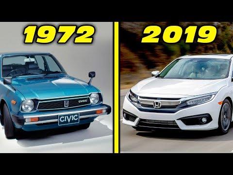 Honda Civic History / Evolution (1972 - 2019) [4K]