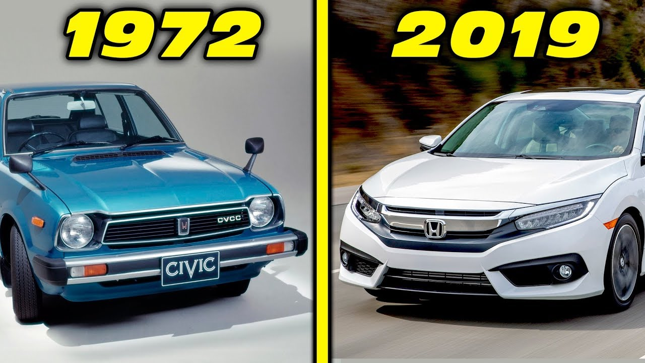 Honda Civic History Evolution 1972 2019 4k