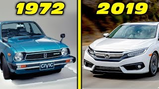 Honda Civic History / Evolution (1972 - 2019) [4K]