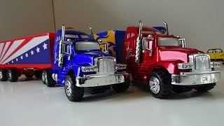 Two Trucks With Sweets, Open and Review new TOYS, Cars for KIDS, Fun Video Toys Play