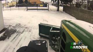 Zapowiedź zimy 2014 i uszkodzenie tuza - John Deere 6930P & John Deere 5720 - GR Sanocki