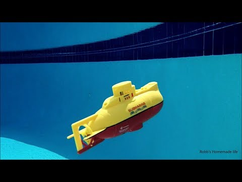 Robb Reviews $29 RC Model Submarine Underwater Test- Better Than I Thought.