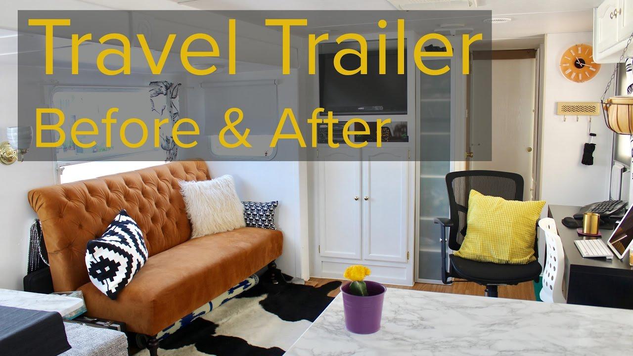 Travel Trailer Remodel for full time living