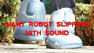 Giant Robot Slippers with Sound from ThinkGeek