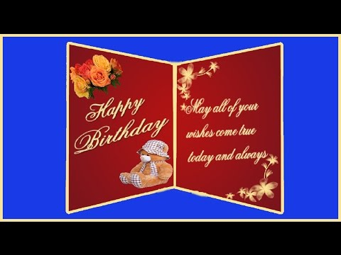 Create A Two Fold Birthday Greeting Card In Photoshop With ESubs