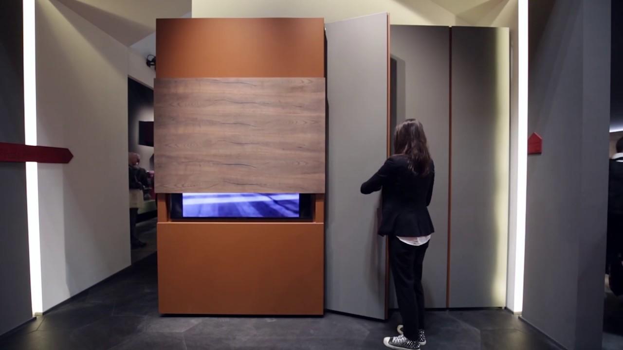 Armadio Con Vano Tv Ikea.Porta Tv A Scomparsa Su Anta Scorrevole Sipario By Fimar