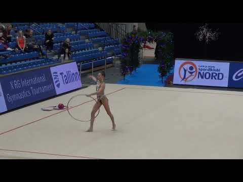 Adelina Beljaeva EST hoop Christmas Cup 2018