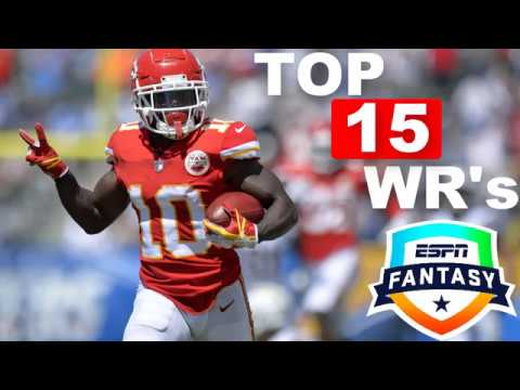 2019 Fantasy Football WR's Tiers And Rankings