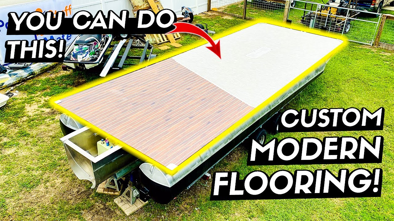 Installing Custom Flooring on my Pontoon Boat Rebuild - Episode 4