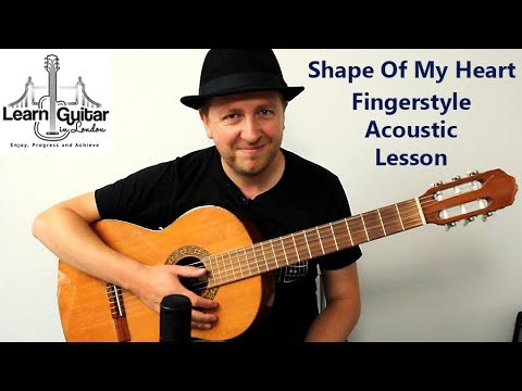 shape of my heart definitve guitar lesson sting with tab drue james youtube. Black Bedroom Furniture Sets. Home Design Ideas