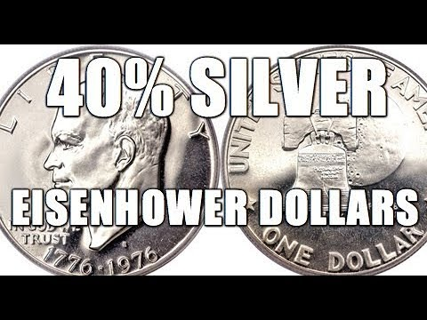 How To Tell Silver Ikes From Clad! Tricky, Blue, Brown, Ikes, Eisenhower Dollar Coins Tutorial