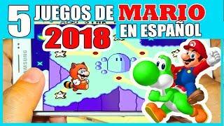5 JUEGOS DE MARIO BROS PARA ANDROID APK SIN EMULADOR (idioma español)