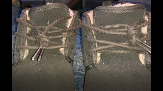 How To Lace Uggs The Right Way! Factory Lace