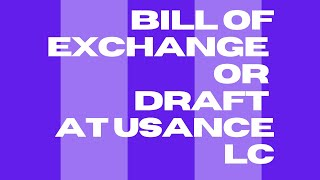 S.# 41 BILL OF EXCHANGE / DRAFT IN USANCE L/C IN URDU / HINDI