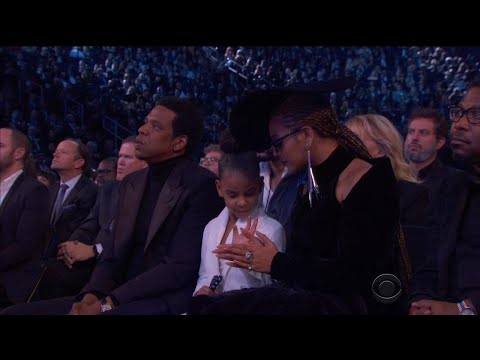 Blue Ivy Hilariously Calms Down Beyonce and Jay-Z During Grammys