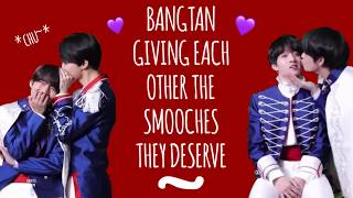 BTS Giving Each Other The Smooches They Deserve