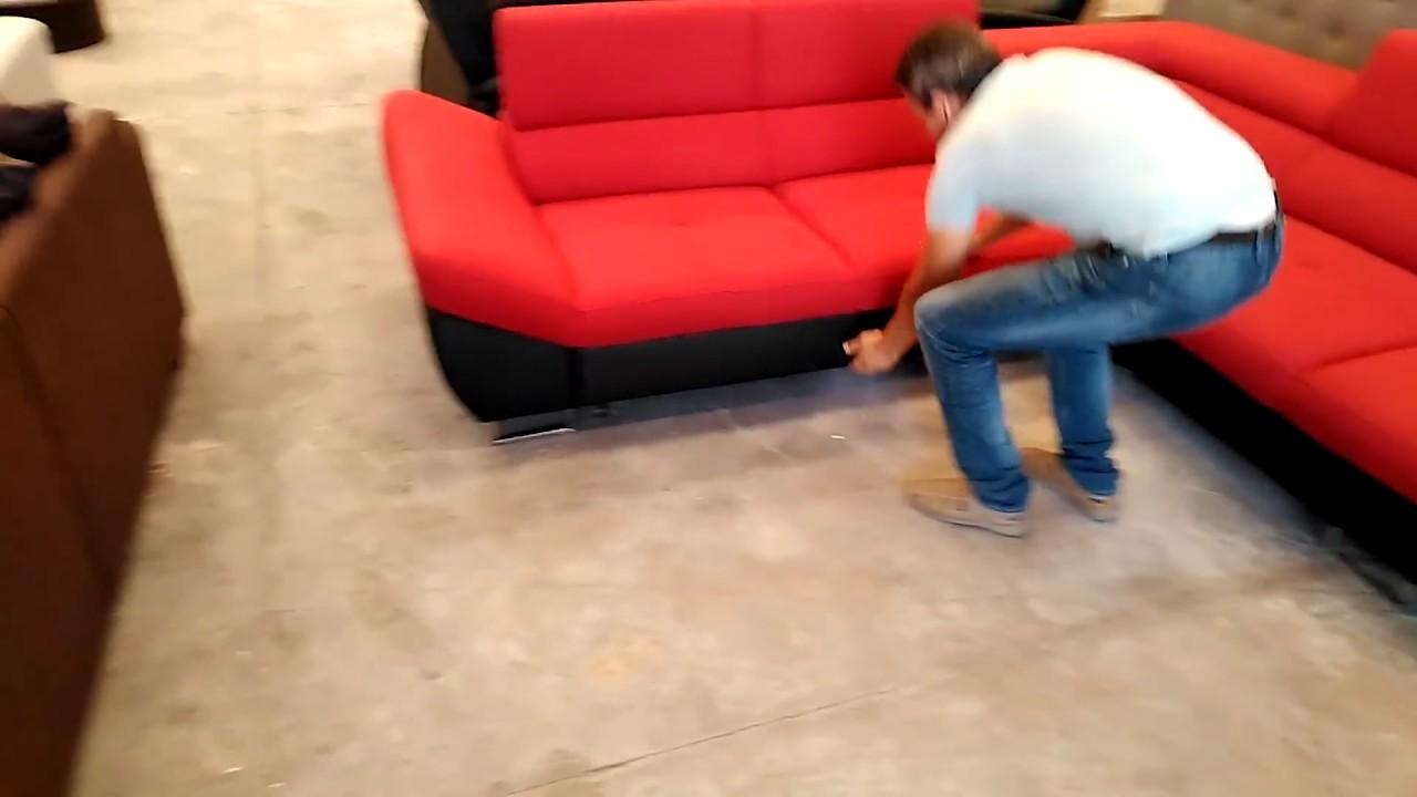 Sofá cama rinconera de color rojo - Tienda de muebles online Don ...