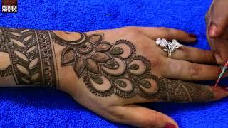 Easy & Quick Mehendi Design For Karwa Chauth | Mehndi Application Pattern For Hands |Mehndiartistica