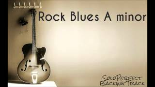 Rock Blues Backing Track in A minor