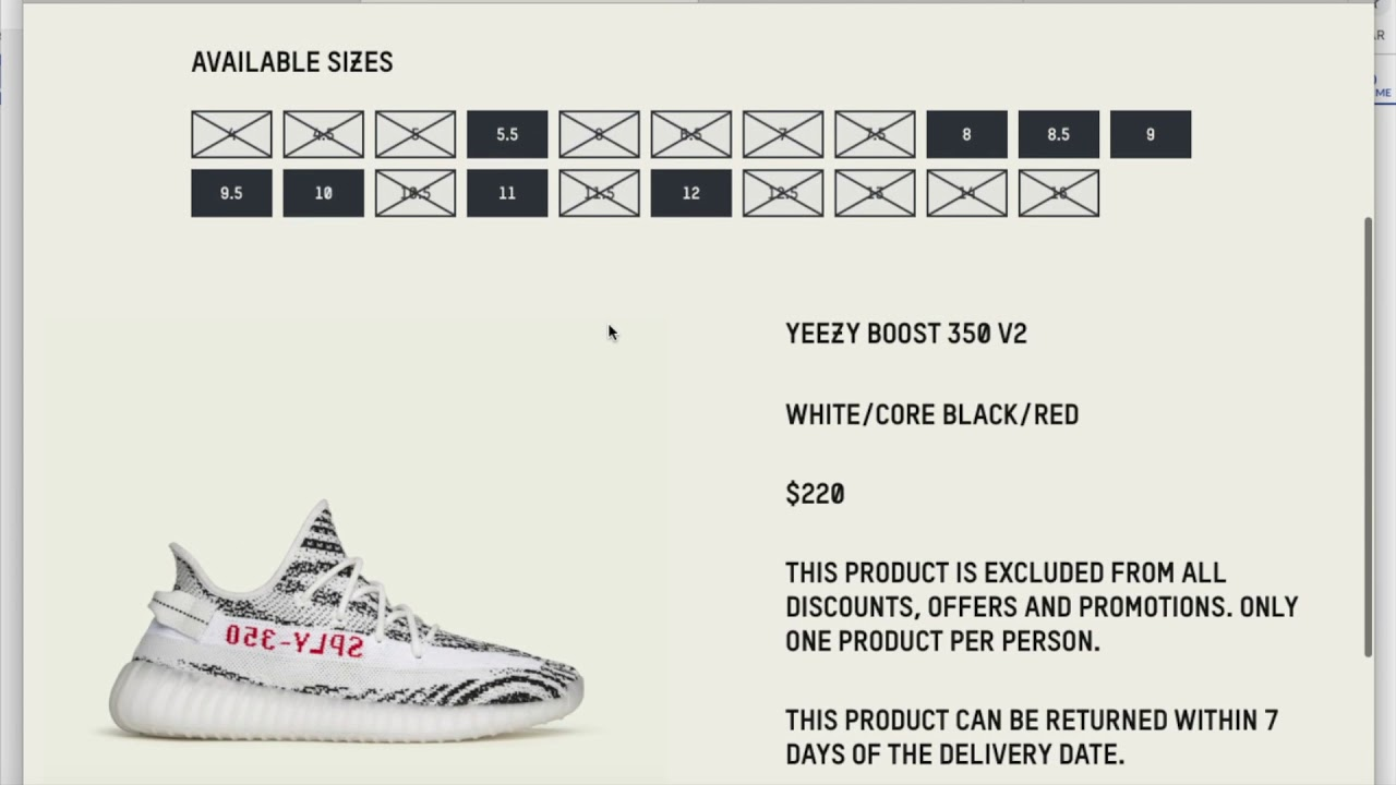 914dce4a7087b Adidas Kanye West YEEZY Boost 350 V2 Zebra 2nd Restock + Dead Resell! 11 16  18