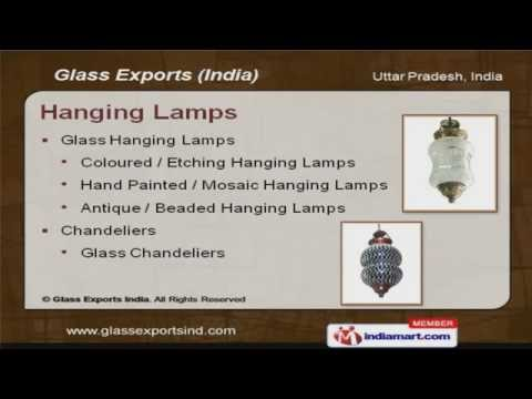 Hanging Lamps by Glass Exports India, Firozabad