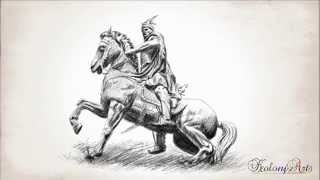 King of Albania Gjergj Kastrioti Skënderbeu - Pencil drawing art