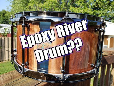 Epoxy River Stave Snare Drum Build (Grizzly River 14x7)