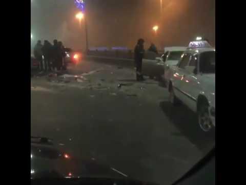 Ночное ДТП на мосту по пр.БухарЖырау. Караганда