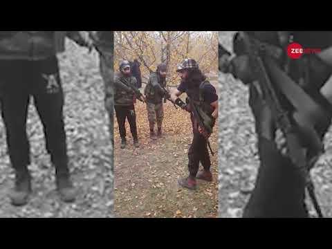 Viral video of Hizbul Mujahideen commander training militants