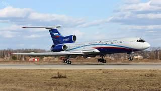 Russian jet Tu-154 flies over Washington | Ту-154 провёл наблюдательный полёт над Вашингтоном