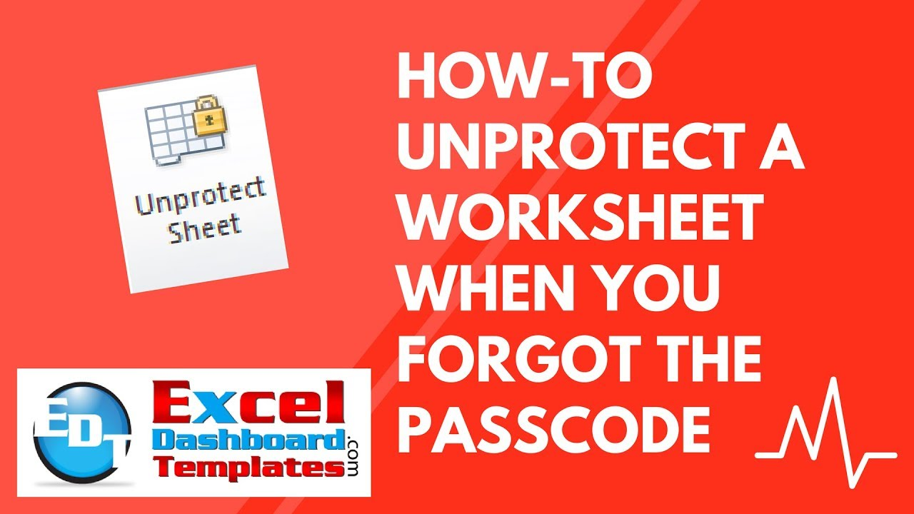 worksheet Unprotect Worksheet how to unprotect an excel worksheet when you forgot the passcode passcode