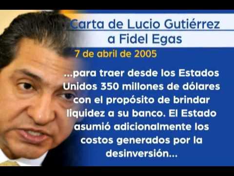 CARTAS ENTRE LUCIO GUTIÉRREZ Y FIDEL EGAS