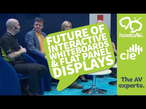 Future of Interactive Whiteboards & Flat Panel Displays | HowToAV @ BVE 2016