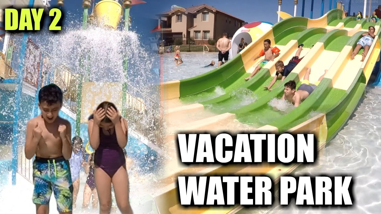 WE HAD A MASSIVE WATER PARK IN THE BACKYARD IF OUR VACATION HOME | OUR LARGE FAMILY VACATION