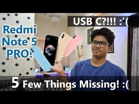5 Things MISSING in REDMI Note 5 PRO | Kyu Chhod Diya Xiaomi ne?! [Hindi]