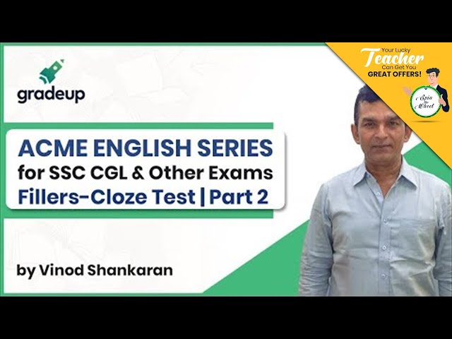 Acme English Series | SSC CGL & Other Exams | Fillers-Cloze Test Part 2 | Class 12