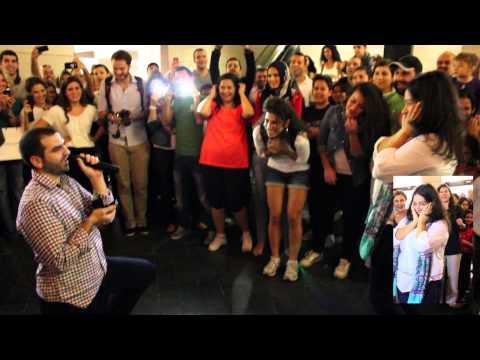 Proposal's Flashmob @ beirut Souks - fadi bitar &