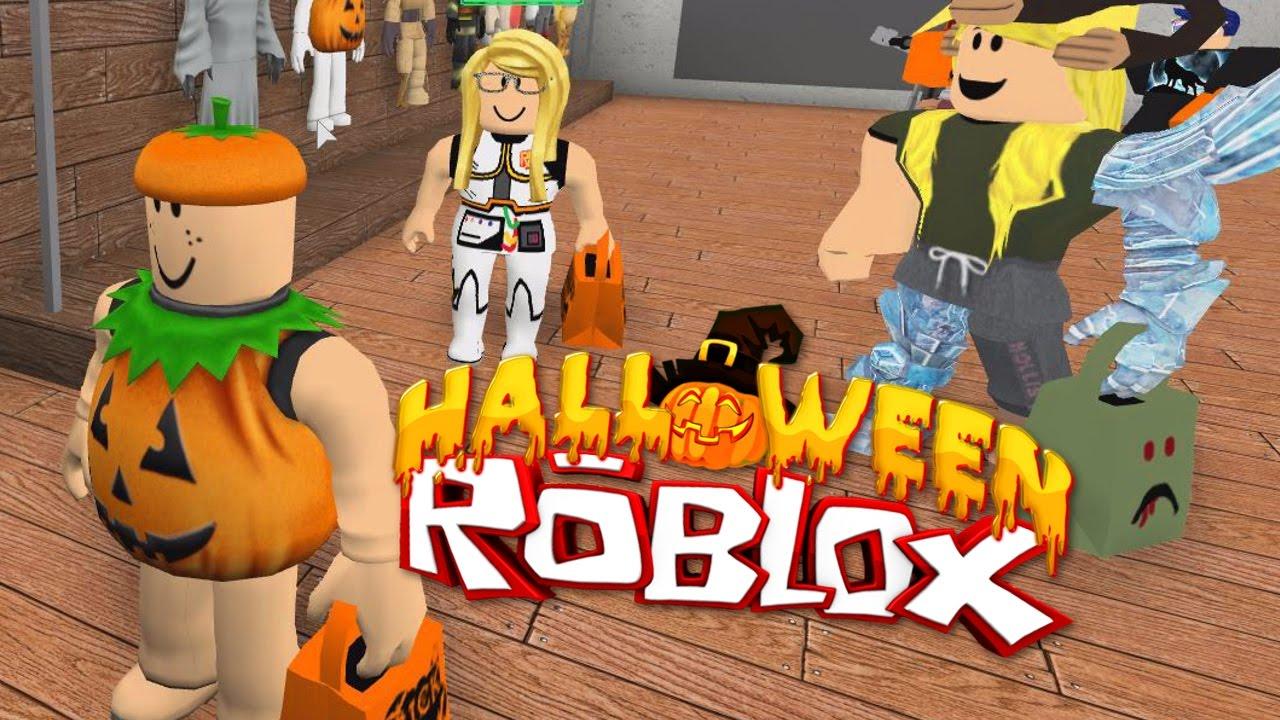 roblox halloween trick or treating in hallowsville radiojh games youtube