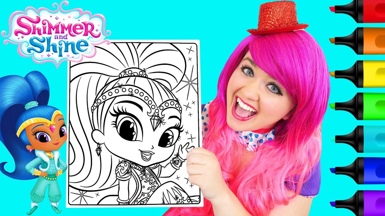 Coloring Shine Shimmer and Shine Coloring Page Prismacolor Paint ...