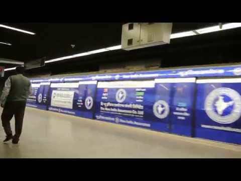 The New India Assurance Delhi Metro Train Wrap