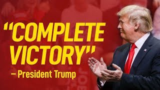 "Trump Celebrates ""Complete Victory"" in Midterm Elections after securing the Senate"