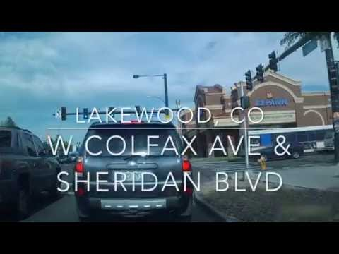 Driving in Colorado (Denver/Lakewood) - West Colfax from Santa Fe Dr to Garrison St by Car