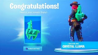 "How To UNLOCK NEW *FREE* Back Blings in Fortnite! NEW ""CRYSTAL LLAMA"" Back Bling UNLOCKED!"