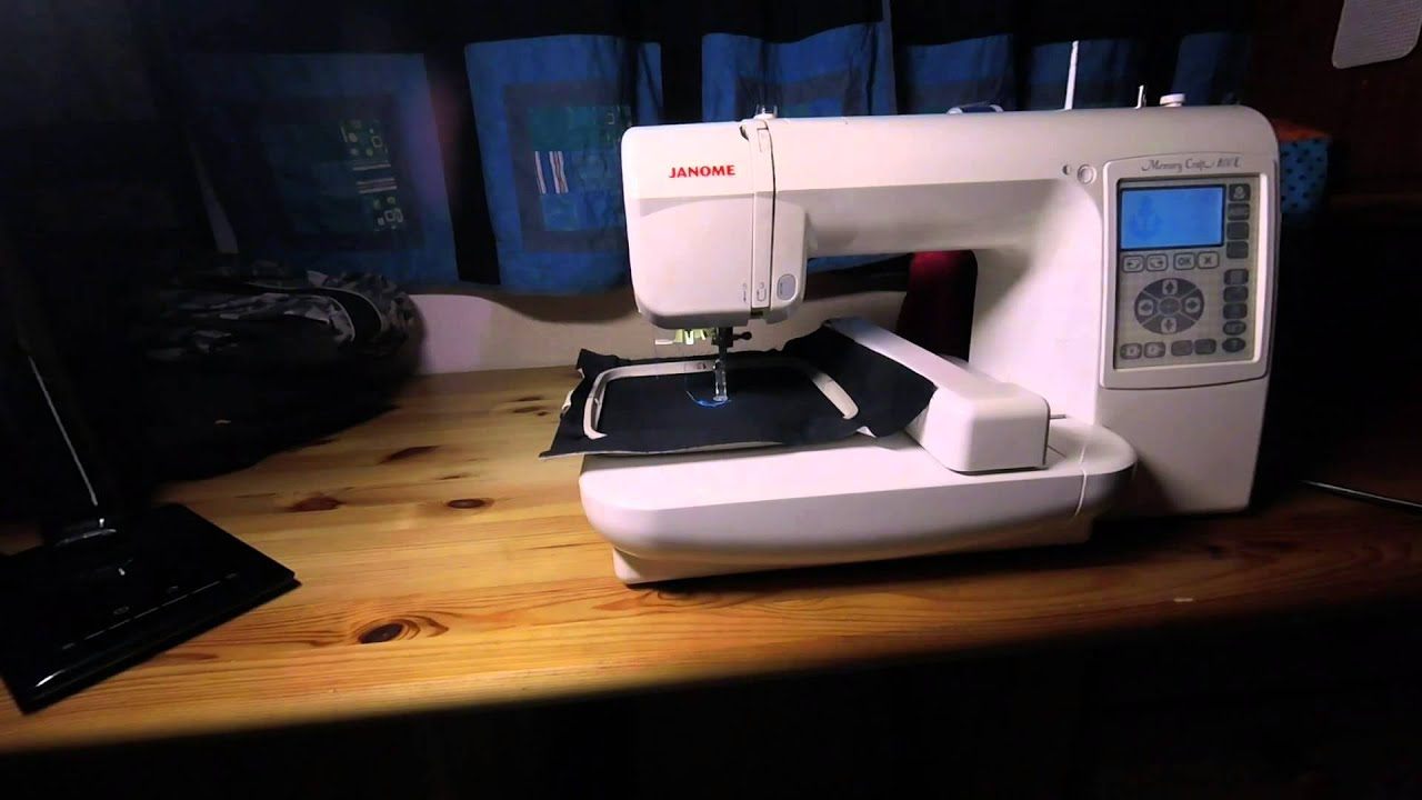 Stickmaschine janome memory craft 200e zu verkaufen youtube for Janome memory craft 200e