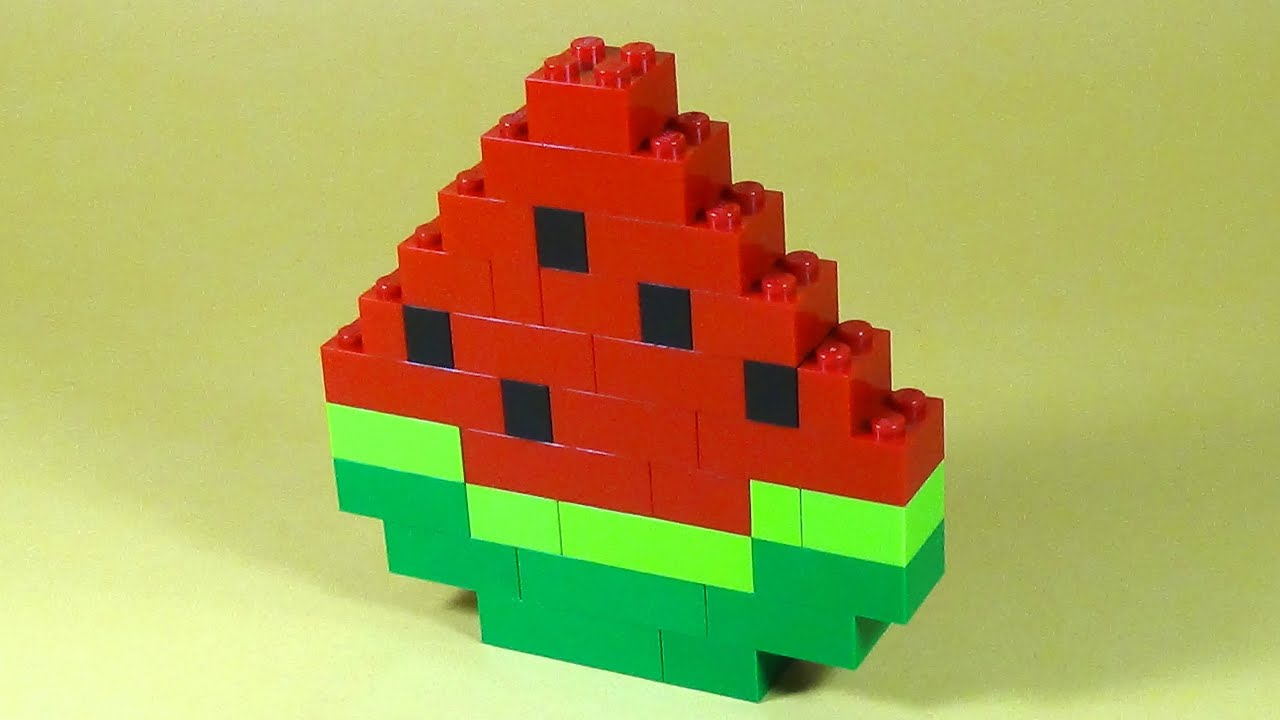 How to build lego watermelon 6177 lego basic bricks for Easy things to build