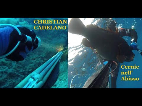 Cernie Nell'abisso Con Christian Cadelano - Grouper Deep Spearfishing