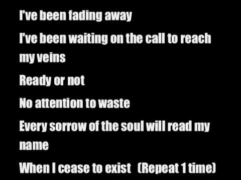Fading Away (lyrics) by Demon Hunter
