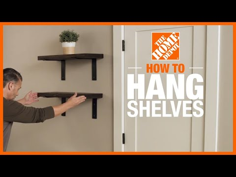 how-to-hang-shelves-|-diy-projects-|-the-home-depot