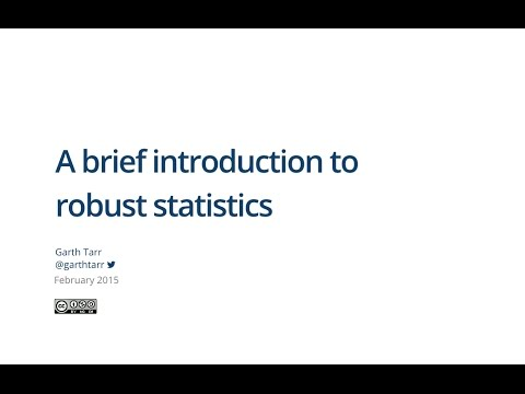 A brief introduction to robust statistics